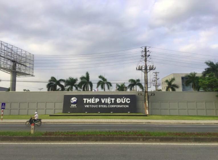 Hình ảnh công ty thép Việt Đức
